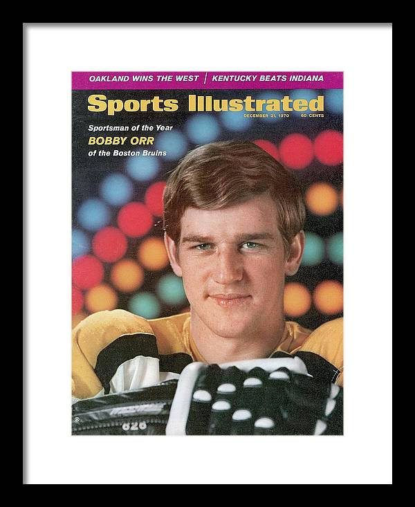Magazine Cover Framed Print featuring the photograph Boston Bruins Bobby Orr, 1970 Sportsman Of The Year Sports Illustrated Cover by Sports Illustrated