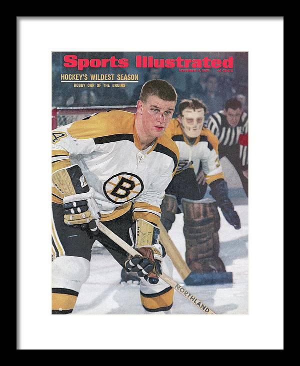 Magazine Cover Framed Print featuring the photograph Boston Bruins Bobby Orr... Sports Illustrated Cover by Sports Illustrated