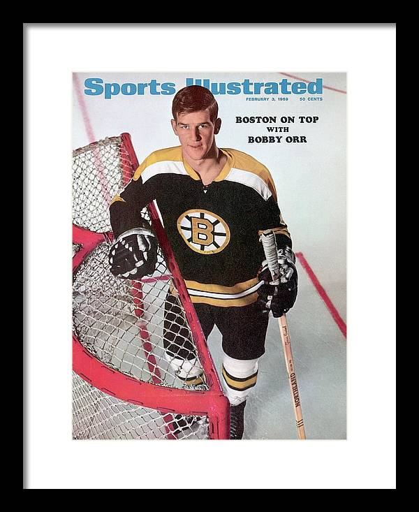 Magazine Cover Framed Print featuring the photograph Boston Bruins Bobby Orr Sports Illustrated Cover by Sports Illustrated