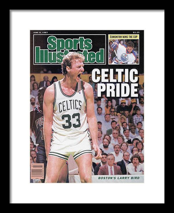 Playoffs Framed Print featuring the photograph Boston Celtics Larry Bird, 1987 Nba Eastern Conference Sports Illustrated Cover by Sports Illustrated