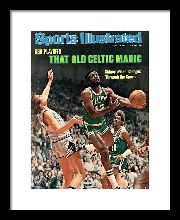 Playoffs Framed Print featuring the photograph Boston Celtics Sidney Wicks, 1977 Nba Eastern Conference Sports Illustrated Cover by Sports Illustrated