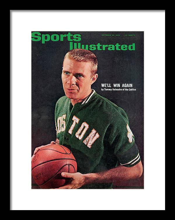 Magazine Cover Framed Print featuring the photograph Boston Celtics Tommy Heinsohn Sports Illustrated Cover by Sports Illustrated