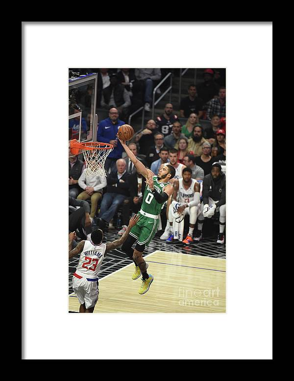 Nba Pro Basketball Framed Print featuring the photograph Boston Celtics V La Clippers by Adam Pantozzi