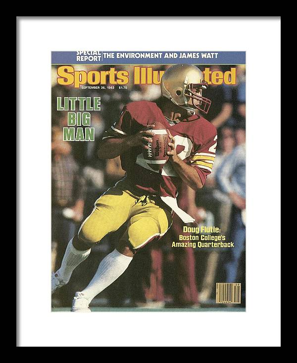 1980-1989 Framed Print featuring the photograph Boston College Qb Doug Flutie... Sports Illustrated Cover by Sports Illustrated
