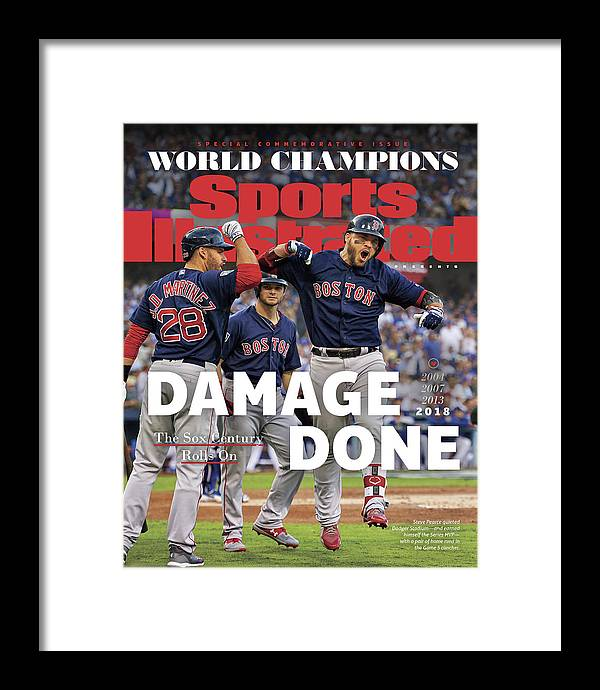 American League Baseball Framed Print featuring the photograph Boston Red Sox, 2018 World Series Champions Sports Illustrated Cover by Sports Illustrated