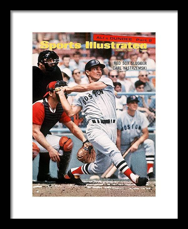 Magazine Cover Framed Print featuring the photograph Boston Red Sox Carl Yastrzemski... Sports Illustrated Cover by Sports Illustrated