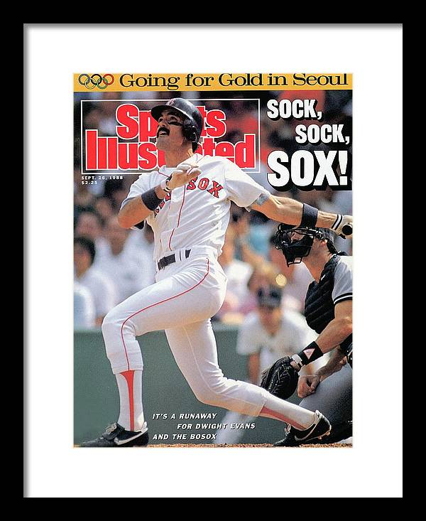 Magazine Cover Framed Print featuring the photograph Boston Red Sox Dwight Evans... Sports Illustrated Cover by Sports Illustrated