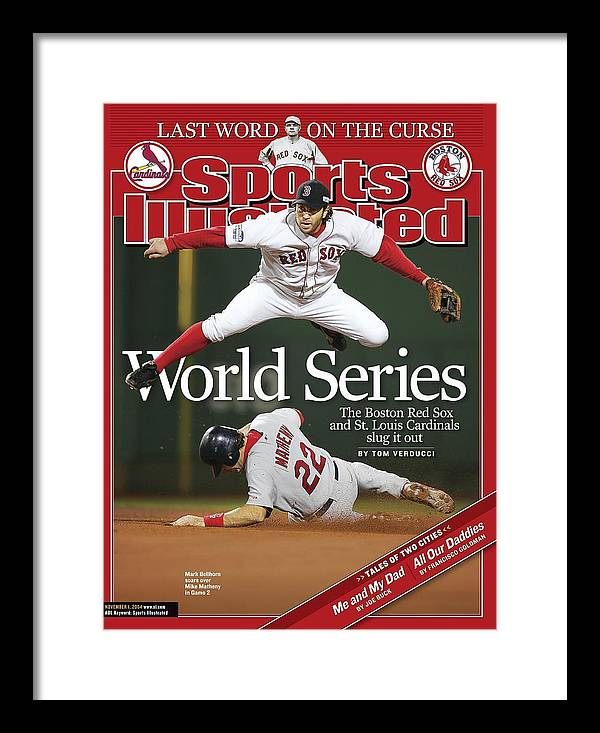 St. Louis Cardinals Framed Print featuring the photograph Boston Red Sox Mark Bellhorn, 2004 World Series Sports Illustrated Cover by Sports Illustrated