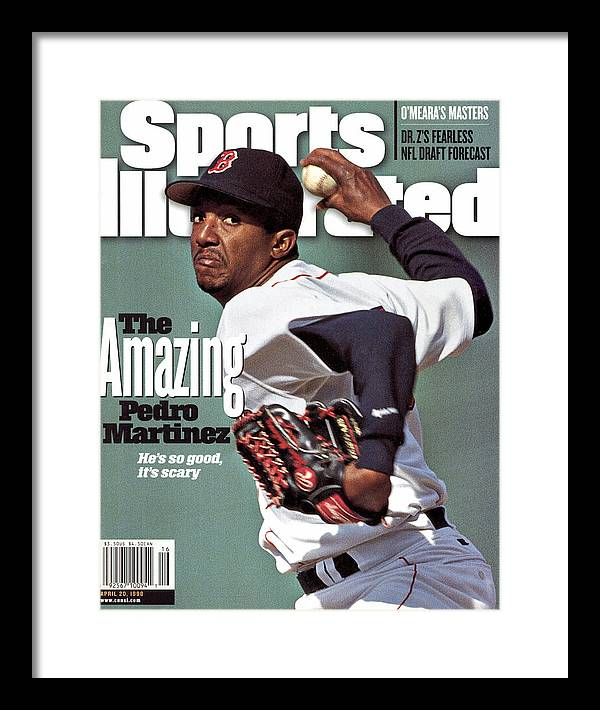 Magazine Cover Framed Print featuring the photograph Boston Red Sox Pedro Martinez... Sports Illustrated Cover by Sports Illustrated