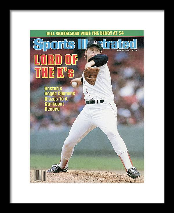 1980-1989 Framed Print featuring the photograph Boston Red Sox Roger Clemens... Sports Illustrated Cover by Sports Illustrated