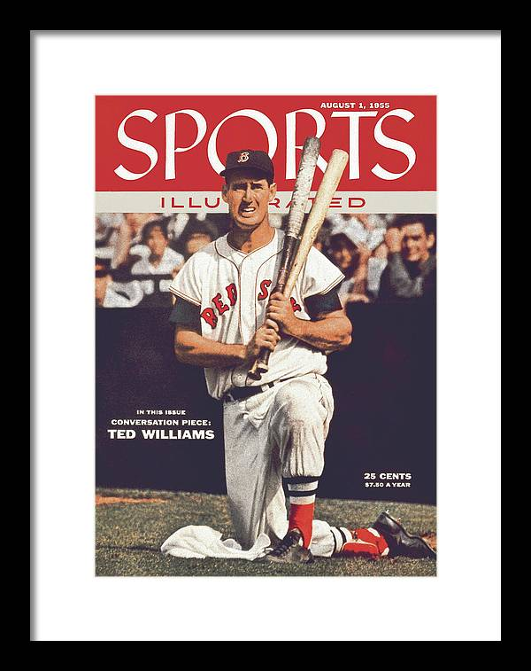 Magazine Cover Framed Print featuring the photograph Boston Red Sox Ted Williams... Sports Illustrated Cover by Sports Illustrated