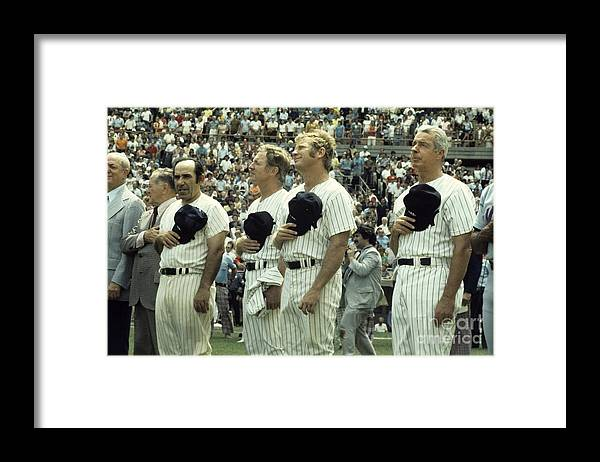 American League Baseball Framed Print featuring the photograph Boston Red Sox V New York Yankees by Olen Collection