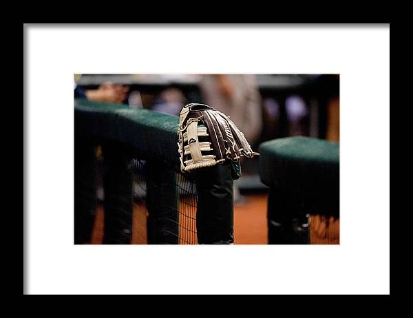 American League Baseball Framed Print featuring the photograph Boston Red Sox V Tampa Bay Rays by Ronald C. Modra/sports Imagery