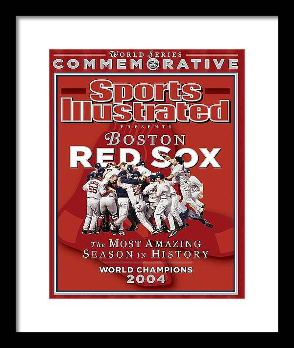 St. Louis Cardinals Framed Print featuring the photograph Boston Red Sox Vs St. Louis Cardinals, 2004 World Series Sports Illustrated Cover by Sports Illustrated