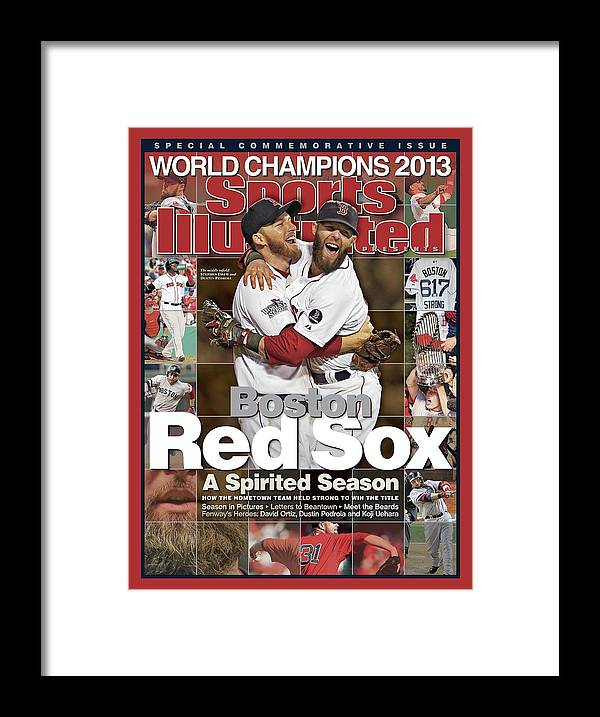 St. Louis Cardinals Framed Print featuring the photograph Boston Red Sox, World Champions 2013 A Spirited Season Sports Illustrated Cover by Sports Illustrated