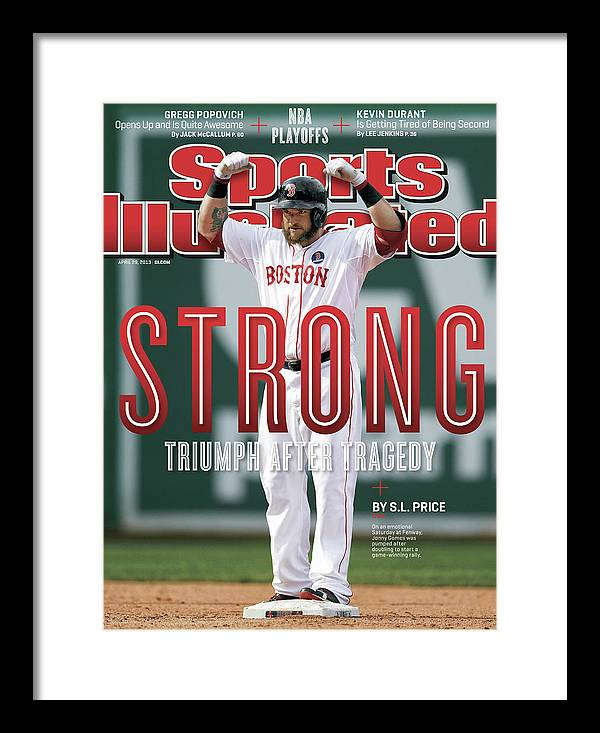 Magazine Cover Framed Print featuring the photograph Boston Strong Triumph After Tragedy Sports Illustrated Cover by Sports Illustrated