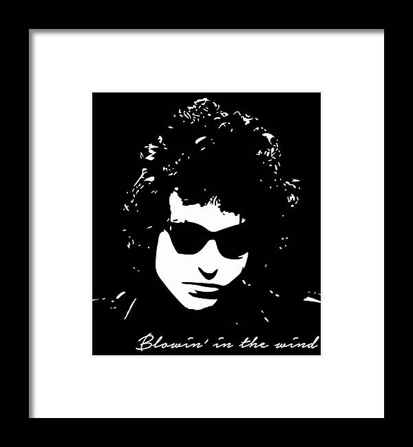 Bob Dylan Framed Print featuring the digital art Bowin' In The Wind by Filip Schpindel