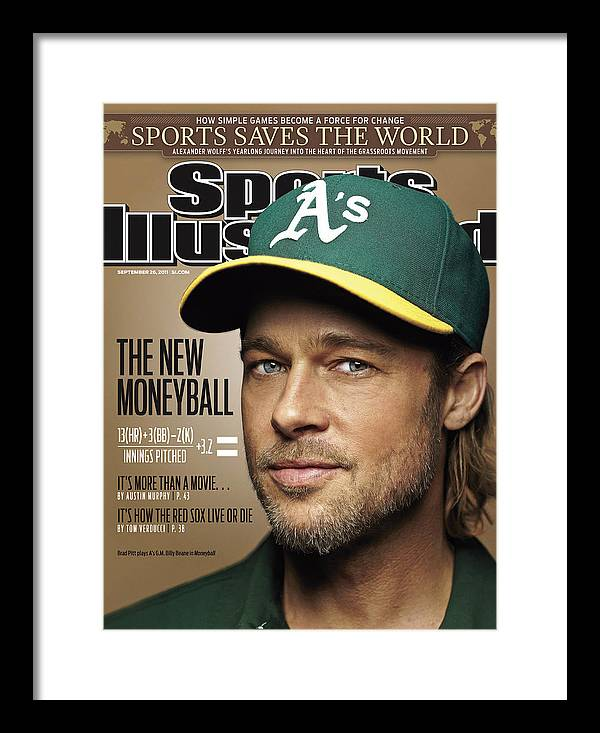 People Framed Print featuring the photograph Brad Pitt Sports Illustrated Cover by Sports Illustrated