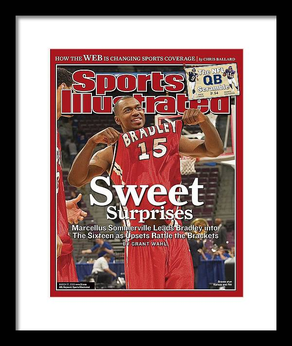 Magazine Cover Framed Print featuring the photograph Bradley Marcellus Sommerville, 2006 Ncaa Playoffs Sports Illustrated Cover by Sports Illustrated