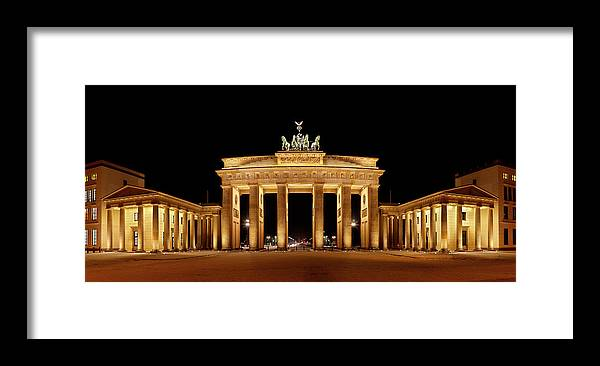 Cold War Framed Print featuring the photograph Brandenburg Gate Panorama by Michaelutech