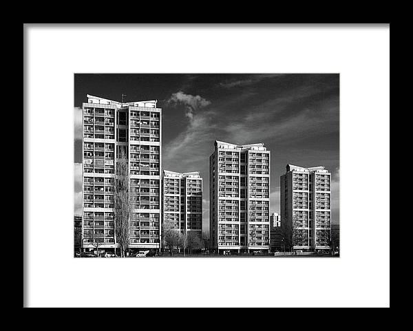 Apartment Framed Print featuring the photograph Brandon Estate by Gary Kinsman