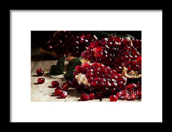 Half Framed Print featuring the photograph Break Azerbaijan Pomegranate On An Old by 5ph