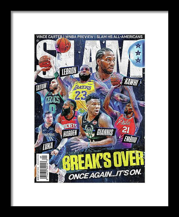 Luka Doncic Framed Print featuring the photograph Break's Over: Once Again… It's On. SLAM Cover by Getty Images