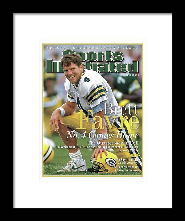 De Pere Framed Print featuring the photograph Brett Favre, No. 4 Comes Home Special Commemorative Issue Sports Illustrated Cover by Sports Illustrated