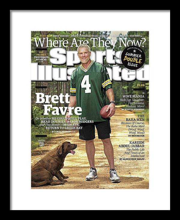 Magazine Cover Framed Print featuring the photograph Brett Favre, Where Are They Now Sports Illustrated Cover by Sports Illustrated