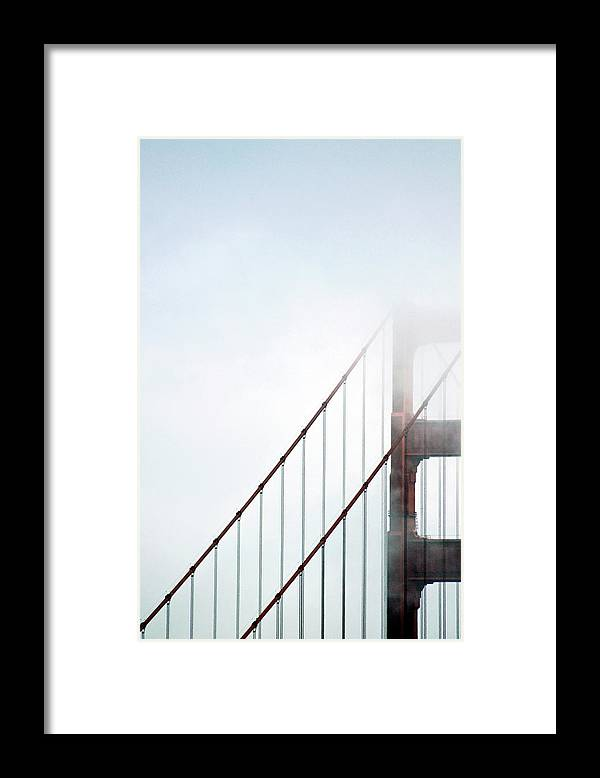 Scenics Framed Print featuring the photograph Bridge In Fog by By Ken Ilio