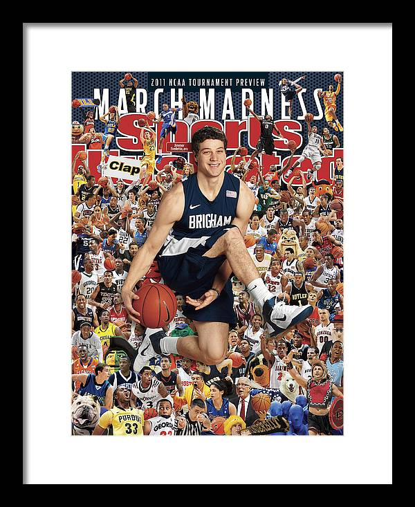 Provo Framed Print featuring the photograph Brigham Young University Jimmer Fredette, 2011 March Sports Illustrated Cover by Sports Illustrated