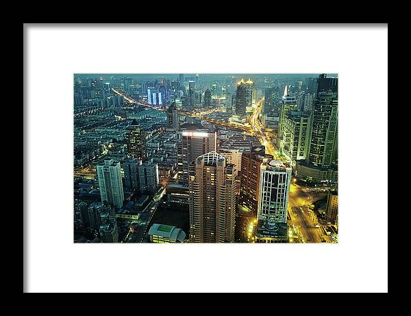 Forked Road Framed Print featuring the photograph Bright Lights by Blackstation