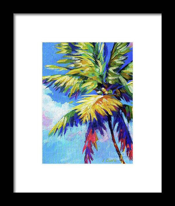 Hawaii Framed Print featuring the painting Bright Palm by John Clark
