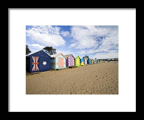 Steps Framed Print featuring the photograph Brighton Beach Huts by Samvaltenbergs