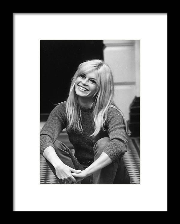 Brigitte Bardot Framed Print featuring the photograph Brigitte Bardot by Cattani