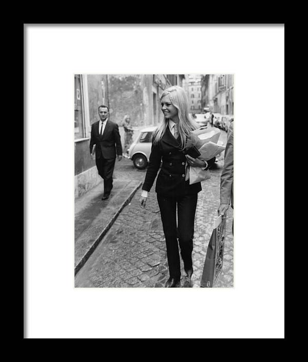 Actor Framed Print featuring the photograph Brigitte Bardot by Keystone