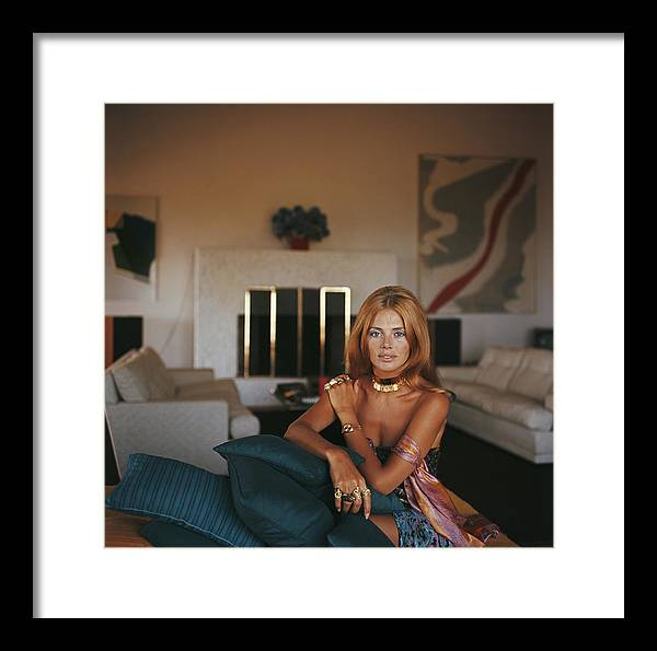 Living Room Framed Print featuring the photograph Britt Ekland by Slim Aarons