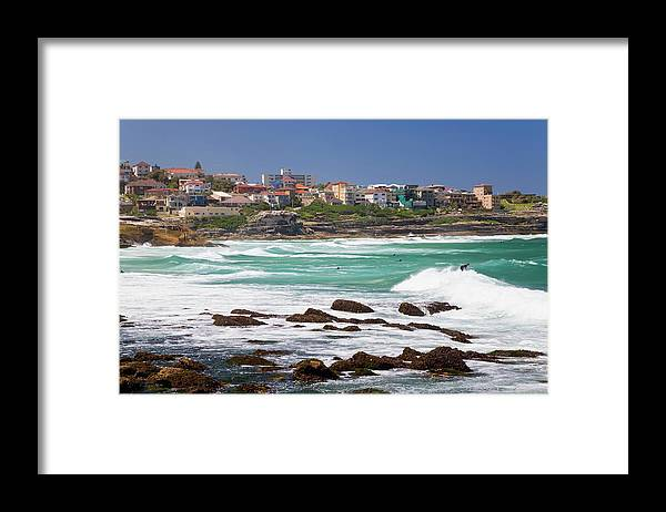 Suburb Framed Print featuring the photograph Bronte, Sydney, Australia by Peter Adams