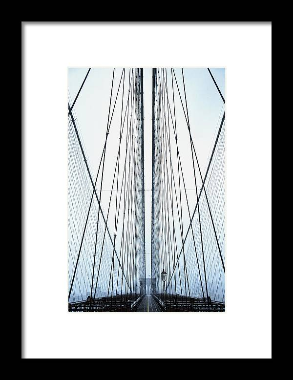 Suspension Bridge Framed Print featuring the photograph Brooklyn Bridge by Eric O'connell