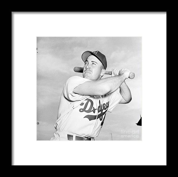 1950-1959 Framed Print featuring the photograph Brooklyn Dodgers by Kidwiler Collection