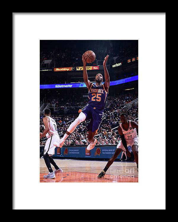 Nba Pro Basketball Framed Print featuring the photograph Brooklyn Nets V Phoenix Suns by Michael Gonzales