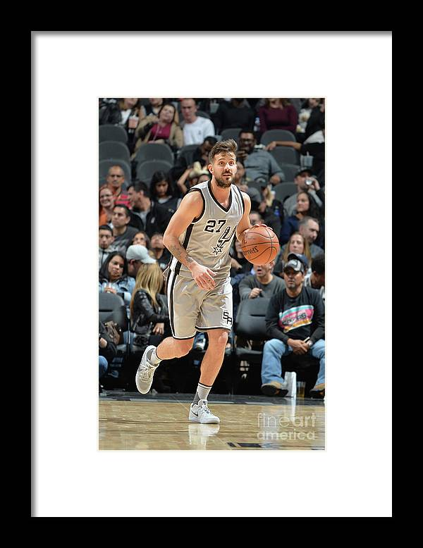 Nicolás Laprovittola Framed Print featuring the photograph Brooklyn Nets V San Antonio Spurs by Mark Sobhani