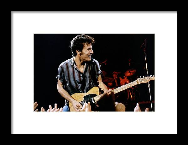 Bruce Springsteen Framed Print featuring the photograph Bruce Springsteen Live by Larry Hulst