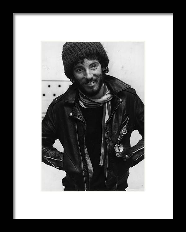Bruce Springsteen Framed Print featuring the photograph Bruce Springsteen by Monty Fresco