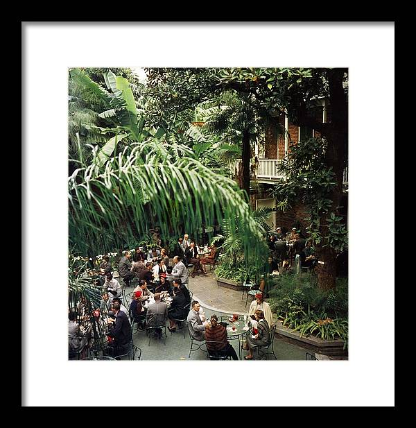 Lifestyles Framed Print featuring the photograph Brunch At Brennans by Slim Aarons