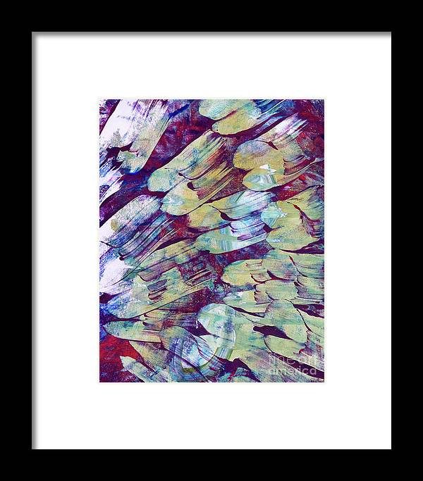 Abstract Framed Print featuring the painting Brushstrokes Featured by Laura L Leatherwood