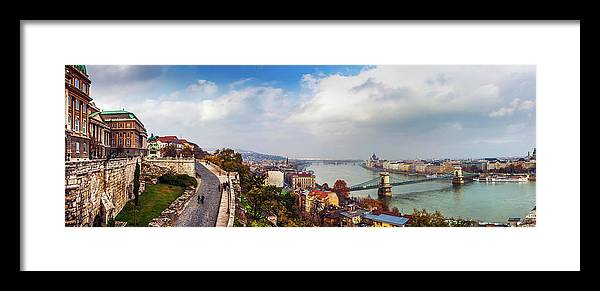 Hungarian Parliament Building Framed Print featuring the photograph Budapest - Sweeping View by John And Tina Reid