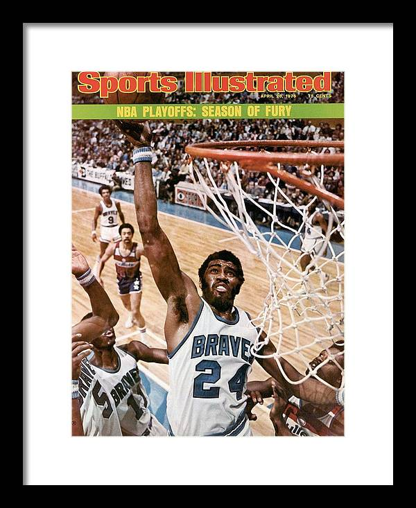 Playoffs Framed Print featuring the photograph Buffalo Braves Garfield Heard, 1975 Nba Eastern Conference Sports Illustrated Cover by Sports Illustrated