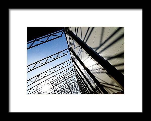 Shadow Framed Print featuring the photograph Building Abstract by Maximgostev