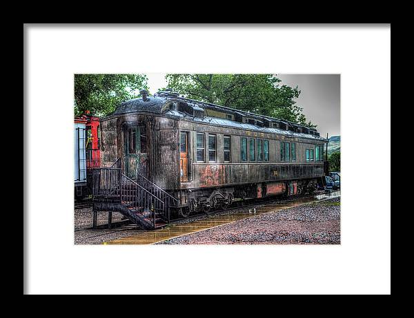 Train Museum Framed Print featuring the photograph Burlington Passenger Car by G Wigler